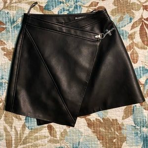 Blank NYC Black faux leather miniskirt